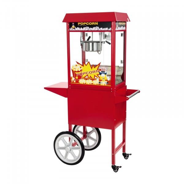 Machine à pop-corn et son chariot